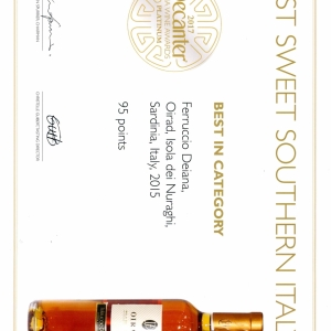 1Oirad 2015 - Platinum Medal Best White Southern Italy - Decanter Asia Wine Awards2017