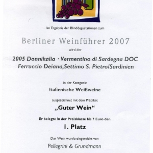 Donnikalia 2005 - 1° Classificato - Berlin Weinfuhrer 2007